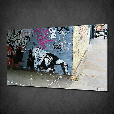 Banksy Coke Snorting Copper Graffiti Canvas Print Art Picture Free Uk P&P
