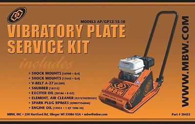 MBW Plate Compactor GP/AP 12 15 and 18 Service Kit w/Honda Engine New Style 2333