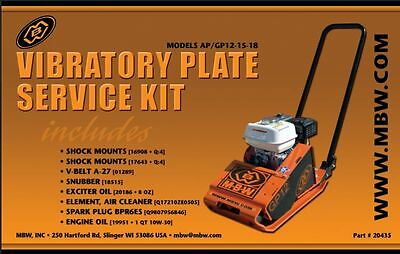 MBW Plate Compactor GP/AP 12 15 and 18 Service Kit w/Honda Engine Old Style 2331