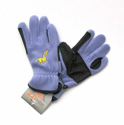 Jaycee Horse & Western Girls Embroidered Fleece Riding Gloves -  Lge