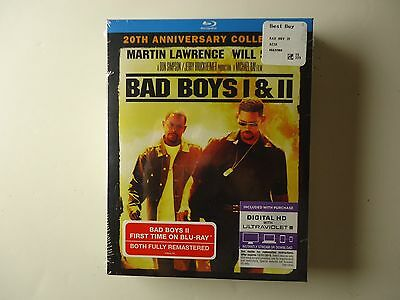 Bad Boys/ Bad Boys II 2-Pack (Blu-ray, 2015, 2-Disc, UV) NEW w/slipcase