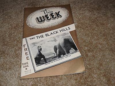 The Week Through The Black Hills (South Dakota) July 1953 - Lots Of Info & Ads
