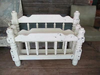 Vintage Single Thick Solid Wooden Bed Frame Head Foot Board Country Cottage