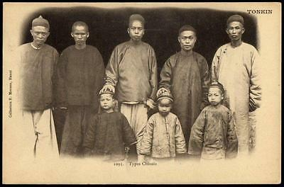 Vietnam Tonkin - Old PPC - A Group (Types) of Chinese