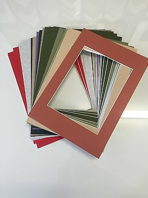 "10 x Professional Picture Framing Mat Boards 8""x 10"" with 6"" X 8"" Photo Window"