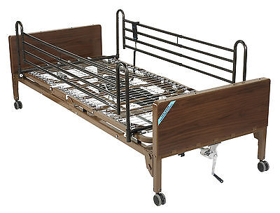 Semi Electric Hospital Bed with Full Rails