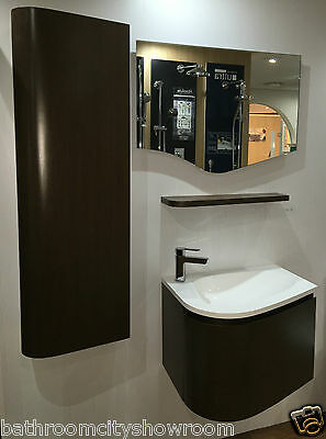 XD Bathroom Vanity Unit with Basin Storage Tap Shelf and LED Mirror Suite Wenge