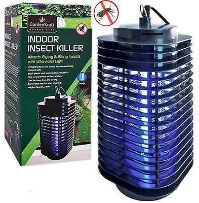 Indoor Mains Electric Uv Fly Bug Insect Mosquito Fly Zapper Killer Office Home