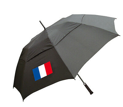Golf Double Canopy Storm Umbrella with French Flag - Sent in Box