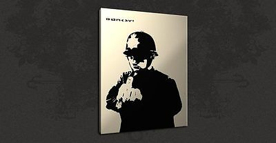 Banksy Rude Copper Graffiti Street Canvas Print Art
