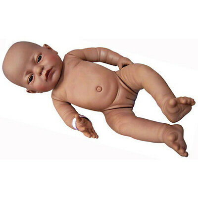 NEWBORN BABY Anatomically Correct DOLL BLACK ETHNIC Girl NAPPY Pretend PLAY TOY