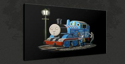Banksy Thomas The Tank Engine Graffiti Canvas Print