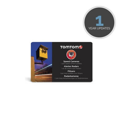TomTom 1 Year Safety Speed Camera Fixed Mobile UK & Europe Pre Paid Update Card