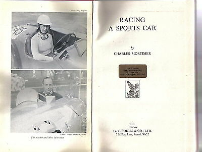 Racing a Sports Car by Charles Mortimer 1951 Healey Silverstone racing