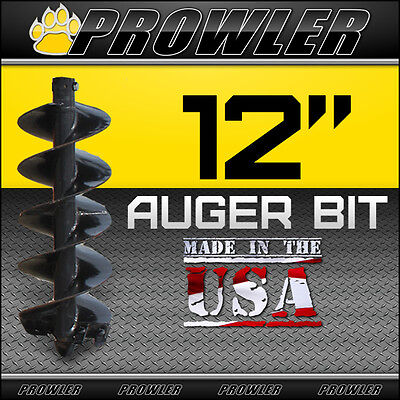 "12"" Auger Bit with Round Collar For Skid Steer Loaders 4' Length  - 12 Inch"