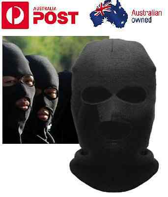Balaclava Motorcycle Neck Winter Knitted Ski Full Face Mask Cover Hat Cap Black