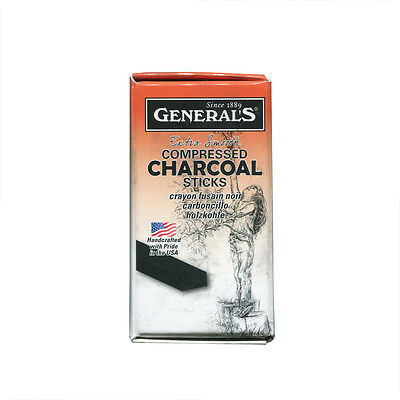 INC 9576B 6B EXTRA SOFT COMPRESSED CHARCOAL STICKS 12//BOX GENERAL PENCIL CO.