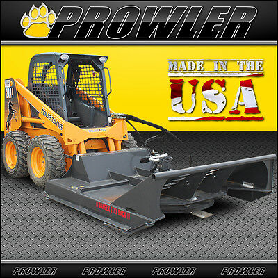 72 Inch Extreme Duty Brush Mower, 30-48 GPM High Flow, Skid Steer Cutter