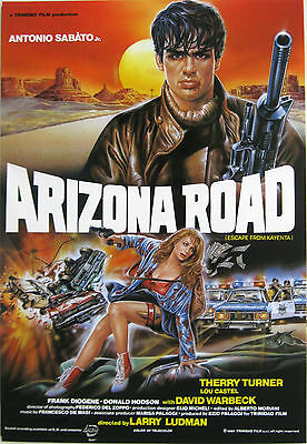 Poster film ARIZONA ROAD 1991 Antonio Sabato Jr Larry Ludman Fabrizio De Angelis