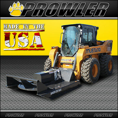60 Inch Standard Duty Brush Mower, 11-20 GPM Flow, Skid Steer Cutter Attachment