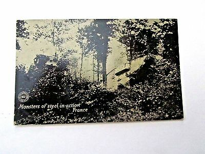 WWII Tanks in Action in France, Chicago Dailly News War Postal Card Series