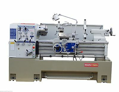 """EISEN 1740G Precision Engine Lathe with 3"""" Spindle Bore, 10HP"""