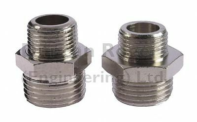 Hex Nipple Male BSP – Nickel Plated Brass Adaptor