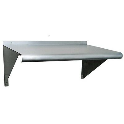 "Stainless Steel Wall Mount Shelf - 36"" X 18"", Nsf"