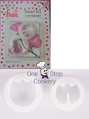 FMM SWEET PEA Cutters Set of 2  Sugarcraft Flower -  Cake Decorating