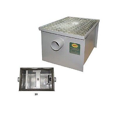 New Commercial Kitchen 4 GPM Regular Steel Grease Trap 8 lbs,  PDI Approved