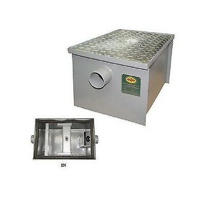 New Commercial Kitchen 15 GPM Regular Steel Grease Trap 30 lbs,  PDI Approved