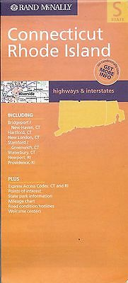 Road Map of Connecticut & Rhode Island, by Rand McNally