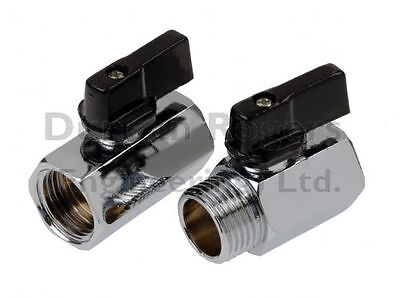 "Mini Ball Valve 1/4"" 3/8"" 1/2"" BSP Female/Female & Male/Female"