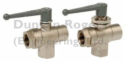 "Legris 3 Way Ball Valves 1/8"" - 1"" BSP Female"
