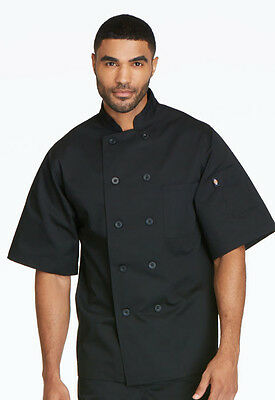 Dickies Unisex Classic 10-Button Chef Coat Black DC49 BLK FREE SHIP!