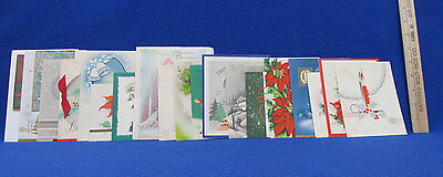Vintage Christmas Cards Bright Colors Made In USA 19 Lot
