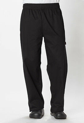 Dickies Unisex Traditional Baggy Chef Pant Black DC11 BLK  FREE SHIP!