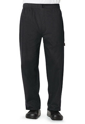Dickies Mens Classic Chef Trouser Black DC13 BLK  FREE SHIP!