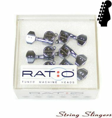 Graphtech PRN-4721-C0 Ratio Tuned Mini Tuners/Machine Heads 45º 6inline chrome
