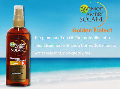 AMBRE SOLAIRE GOLDEN PROTECT OIL PROTECTIVE PLEASE SELECT SPF 10 or SPF 15