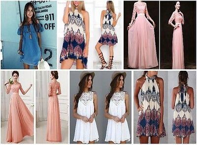 Long Women's Chiffon Evening Party Formal Bridesmaid Prom Gown Dress Wedding