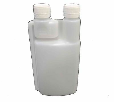 15 X 500ml Plastic Twin Chamber Bottle and Tamper Evident Cap Chemical Bottle