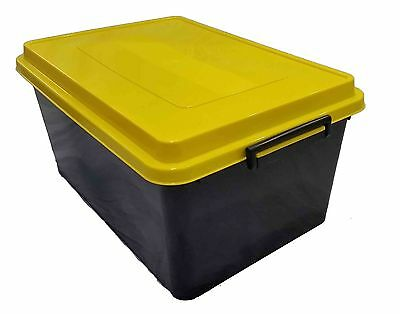 5 X 71LT Plastic Storage Tubs Containers Strong Crate Bin Crates Box Boxes 71L