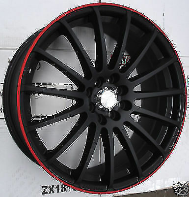 18 Inch Apec Pro Sprint Black Red Line Tyre Package Deal Mini