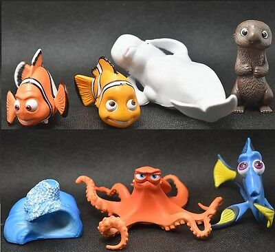 Finding Dory Finding Nemo PVC Figures Cake Topper Toy 7pcs figure *USA seller*