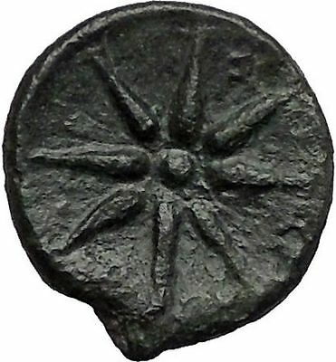 ORCHOMENOS in BOEOTIA 371BC Grain Shield Star Rare R1 Ancient Greek Coin i56244