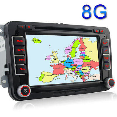 VW Golf MK5 MK6 Car GPS Stereo Radio DVD sat nav for Passat Touran Tiguan Polo
