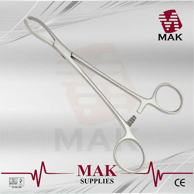 M@K Intestinal Forceps Littlewood 19cm 2x3Teeth For Grasping Tissue & Extracting