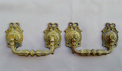French Antique Pair of Piano Handles - Bronze Furniture Hardware 19th.c