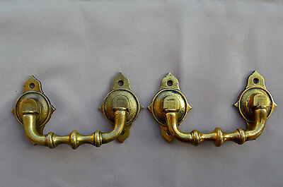 French Antique Pair of Piano Handles - Bronze Furniture Ornament Trunk 19th.c